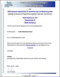 DQB Zertifikat